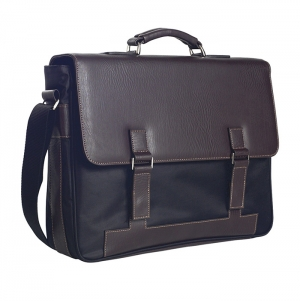 TWO-TONE BUSINESS BRIEFCASE