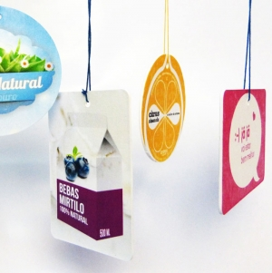 CAR AIR FRESHENERS WITH 60CM2 FOUR COLOR PRINTING
