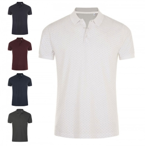 MEN'S POLKA-DOT POLO SHIRT BRANDY MEN