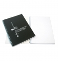 NOTEPAD A5 PP COVER WITH SPIRAL4 COLORS 2 SIDES