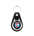 METAL KEY HOLDER / KEYCHAIN WITH SYNTHETIC LEATHER