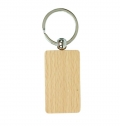 RECTANGULAR WOODEN KEY RING