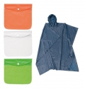 ADJUSTABLE RAIN PONCHO WITH POUCH