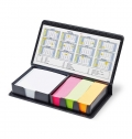 PVC MEMO PAD WITH STICKY NOTES AND CALENDAR
