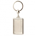 RECTANGULAR METAL KEY RING - 2 SIDES