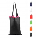 STITCHED BAG WITH LONG HANDLES, NONWOVEN 80 G