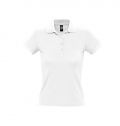 WOMEN'S POLO SHIRT PEOPLE WHITE