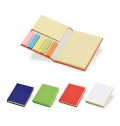 HARDCOVER CARDBOARD NOTEBOOK WITH STICKY NOTES