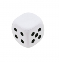 PU ANTI STRESS DICE, 1 FACE FOR PRINTING