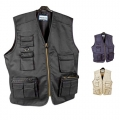 FISHING VEST WITH SEVERAL POCKETSR, POL 65% / COT 35%