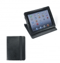 IPAD HOLDER IN BLACK BONDED LEATHER.