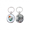METAL SOCCER BALL KEY RING - 1 SIDE PRINTABLE
