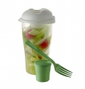 SALAD SHAKER WITH CUP AND FORK (900ML)