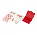 FIRST AID KIT IN A PLASTIC BOX, 10PC