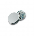Magnifying glass in alloy case.