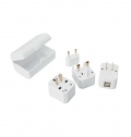 TRAVEL ADAPTER WITH 2 USB PORTS AND CASE
