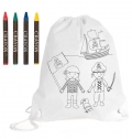 PIRATES BACKPACK WITH CRAYON