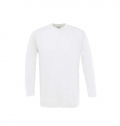B&C EXACT 150 LONG SLEEVE T-SHIRT, WHITE - 100% COT