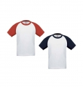 T-SHIRT B&C BASE-BALL KIDS 185 GR