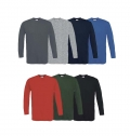 B&C EXACT 150 LONG SLEEVE T-SHIRT - 100% COTTON