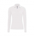 B&C SAFRAN PURE WOMEN LONG SLEEVE POLO SHIRT 180G - 100