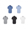 B&C OXFORD MEN SHORT SLEEVE SHIRT - 70% COMBED COTTON/