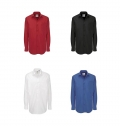 B&C HERITAGE MEN LONG SLEEVE SHIRT - 100% COMBED COTTON