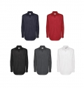 B&C SHARP MEN LONG SLEEVE SHIRT - 100% COMBED COTTON -