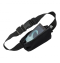 NEOPRENE, ZIPPERED, WAIST BAG