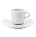 STACKABLE PORCELAIN CUP AND SAUCER (70 ML)