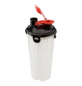 PLASTIC PROTEIN SHAKER (350ML) WITH TWO COMPARTMENTS.