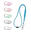 POLYESTER LANYARD WITH PVC ADJUSTMENT