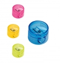 PLASTIC PENCIL SHARPENER WITH DEPOSIT