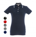 WOMEN'S TWO-COLOURED POLO SLIM FIT ROME WOMEN COLORS
