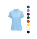 LADIES 65/35 POLO SHIRT 180G - 65% POLYESTER/ 35% COTTO