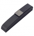 PU LUXURIOUS BLACK PEN CASE, SUITABLE FOR ONE PEN