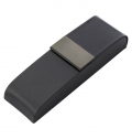 PU LUXURIOUS BLACK PEN CASE, SUITABLE FOR TWO PENS