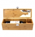 FIVE PIECE WINE SET IN A WOODEN GIFT BOX (EXCLUDES WINE) INC