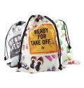 BAG WITH ROPE SIZE XXL POLYESTER FULL COLOR FULL PRINT
