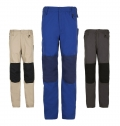 MEN'S TWO-COLOUR WORKWEAR TROUSERS METAL PRO