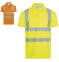 POLO SHIRT WITH HIGH VISIBILITY STRIPS SIGNAL PRO