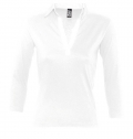 WOMEN'S TWO-COLOURED RUGBY POLO SHIRT PANACH WHITE