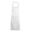 LONG APRON WITH POCKET GRAMERCY WHITE