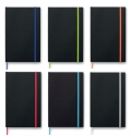 A5 PAPER COVER NOTEBOOK LINED  BLACK NOTE