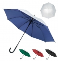 P-190T SILVER AUTOMATIC UMBRELLA, WITH PLASTIC HANDLE