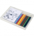 SET OF COLOURING PENCILS ANDCOLOURING SHEETS