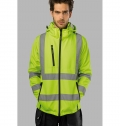 ZAGREB WORK. HIGH-VISIBILITY SOFTSHELL JACKET FOR MEN,