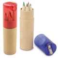 6 COLOUR PENCIL CYLINDER SET