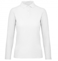 B&C ID.001 WOMEN LONG SLEEVE POLO SHIRT 180G - 100% COT