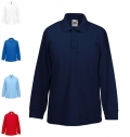 KIDS 65/35 LONG SLEEVE POLO SHIRT 180G - 65% COTTON/ 35